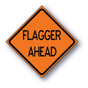 Where to find SIGN FLAGGER AHEAD in Seattle